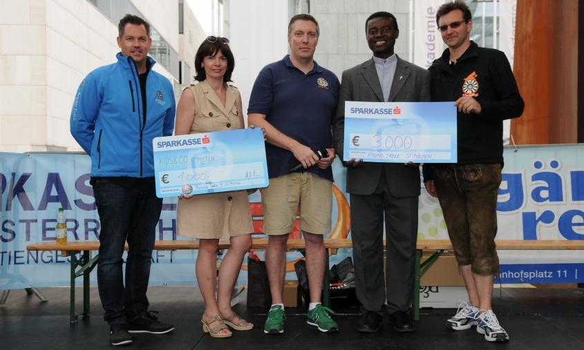 Benefizlauf 2014 - Spendenübergabe