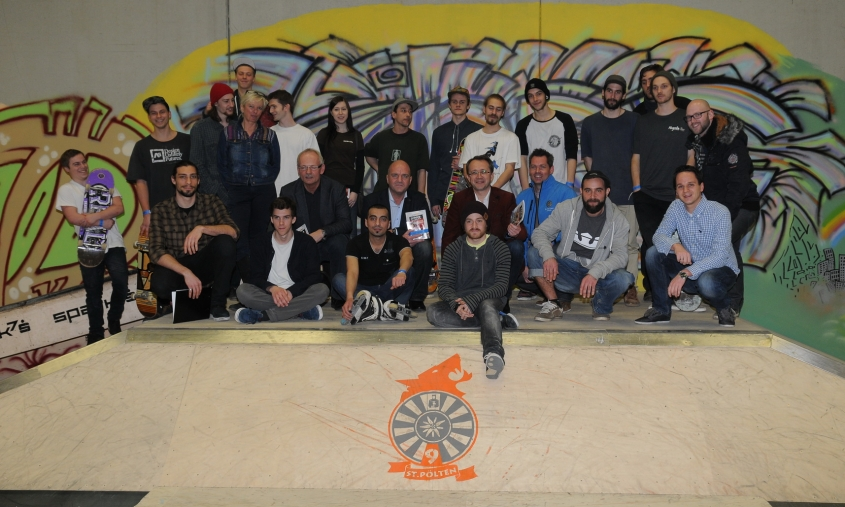 Eröffnung Skaterhalle - Gruppenfoto